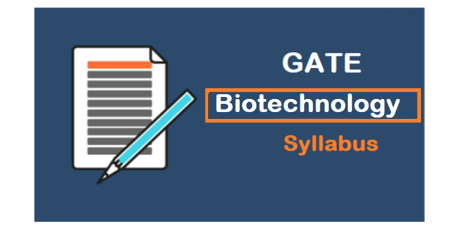GATE 2022 Biotechnology Syllabus Subject Wise