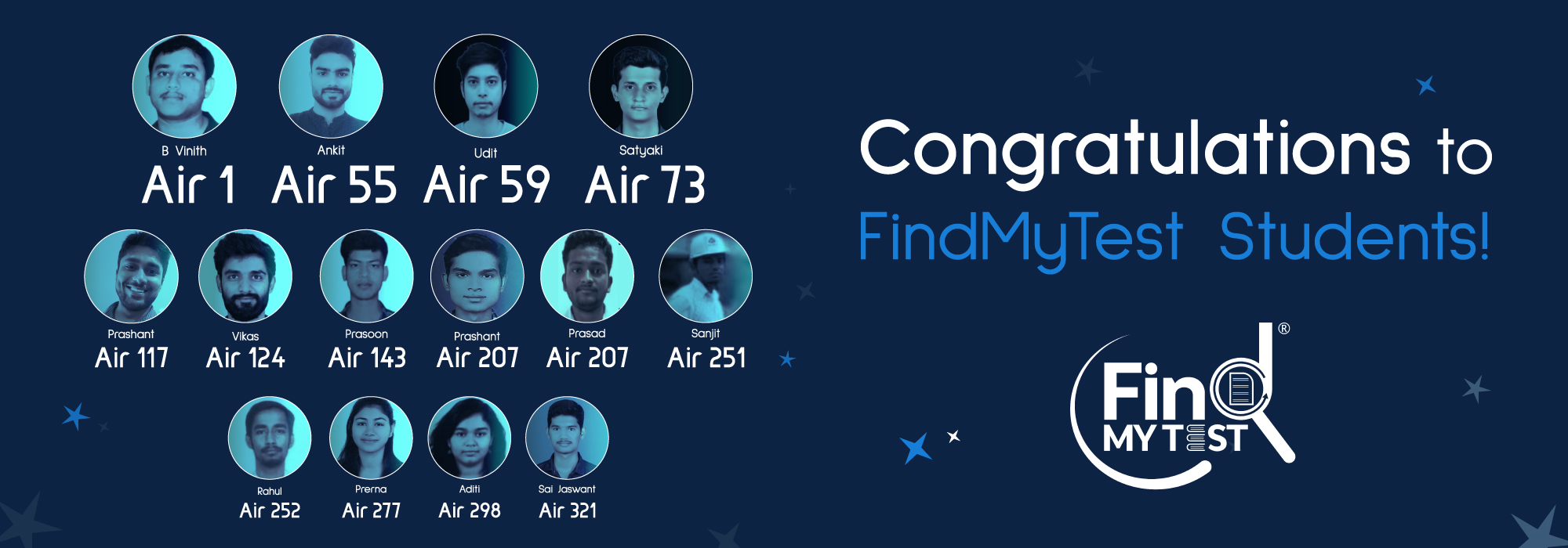 FindmyTest Toppers 2021